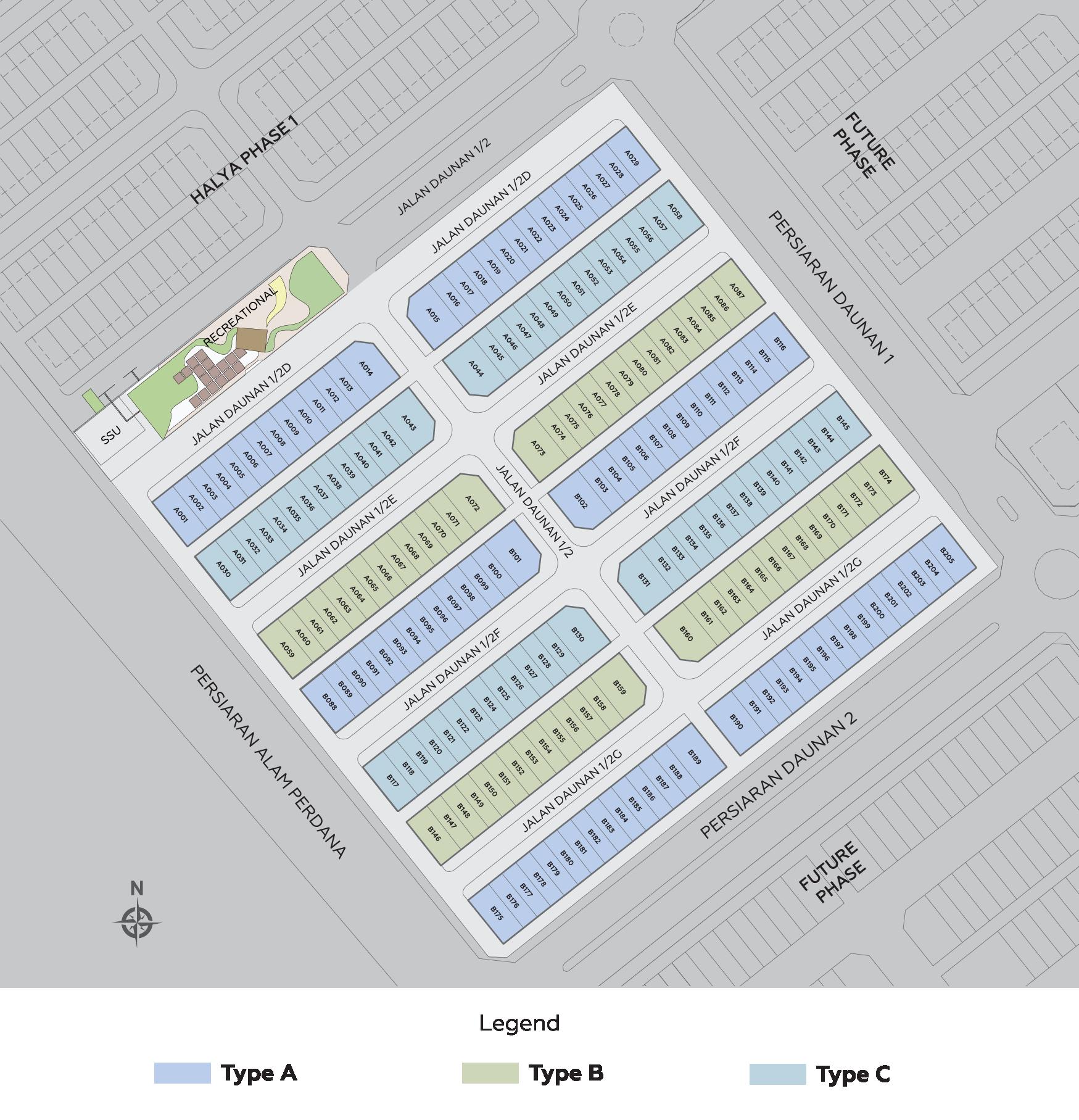 Site Plan Halya 2 @ Daunan Worldwide, Alam Perdana